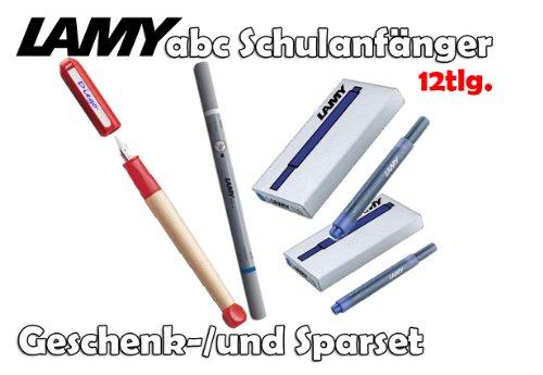 LAMY abc Schulanfänger Füllfederhalter ROT für Linkshänder [Starter-/Geschenkset] inkl. 2...
