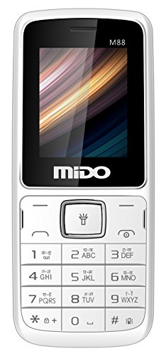 Mido M88 Dual Sim Feature Phone (white-black)