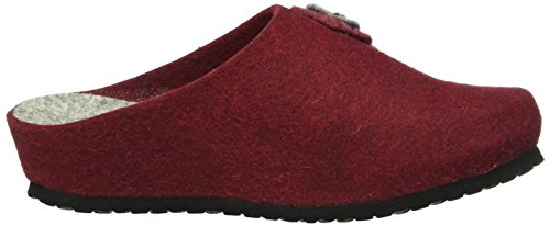 Lico Natural Filz Lady, Pantofole Donna Rosso (Rot)