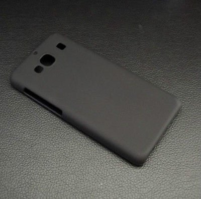 Johra High Quality Matte Rubber Black Hard Back Cover for Xiaomi Redmi 2