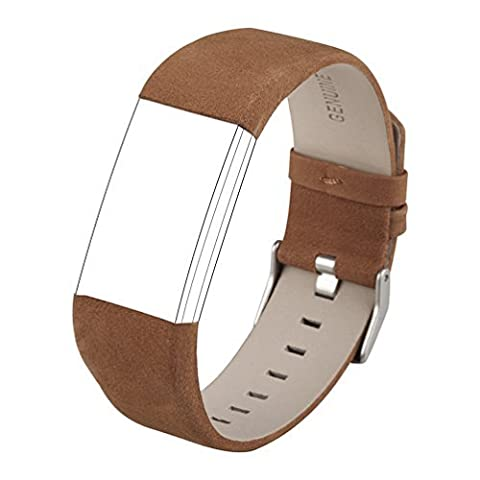 Strap for Fitbit Charge 2, Wearlizer Genuine Leather Band Accessories