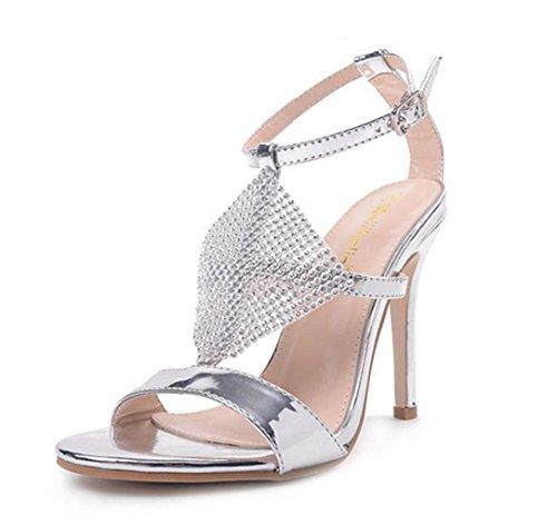 cceab9d0e5f ChunSe Women s Summer high Heel Sandals