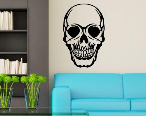 Foto de Adhesivo de pared XXL Calavera Cráneo de calabera SKULLS GOTHIC Puerta Pegatina Adhesiva 5o087 - Oro brillante, 10cm