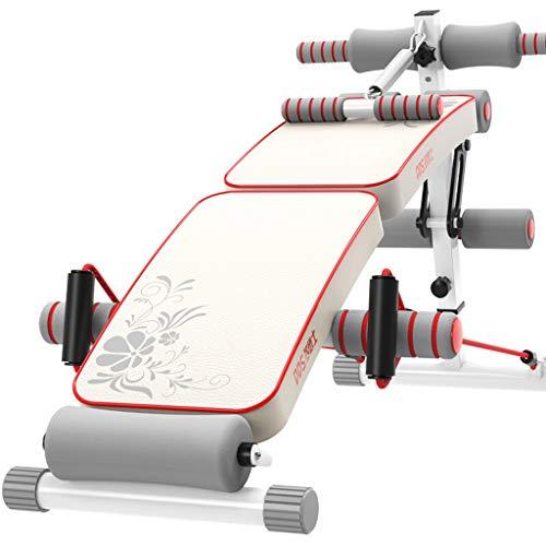 Tx- Verstellbare Sit Up AB Bank, faltbar Decline Bank mit Reverse-Crunch Griff für Home Gym Ab Übung, multifunktionale Fitnessgeräte (Klapp + Tritte) (Ab Crunch Und Sit Up Bank)