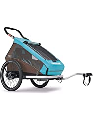 2016 Croozer Kid Plus for 1 - 3 in 1 Single Child Trailer Sky Blue / Brown by Croozer