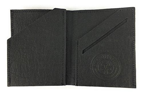 BUORSA - Mini Geldbeutel klein dünn mit Münzfach aus robustem Waschbarem Papier / Veganes Leder in verschiedenen Farben, für Damen und Herren von bun-di Swiss® (BLACK) - 5