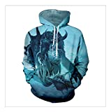 YZFZYLW 3D-Druck Horror Monster Muster Freizeit Hoodie Unisex Mode Winter Paar Langarm-Sweatshirt,Picture,6XL