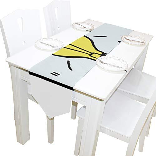 dee Glühbirne Kommode Schal Tuch Abdeckung Tischläufer Tischdecke Platzdeckchen Küche Esszimmer Wohnzimmer Home Hochzeit Bankett Dekor Indoor 13x90 Zoll ()