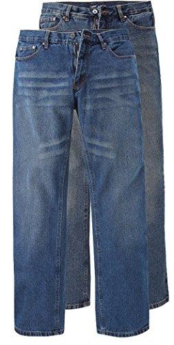 Arizona Herren Jeans Hose Relaxed Used Waschung im Doppelpack hell und dunkel Gr. 44 (Keine inch-Gr.) -