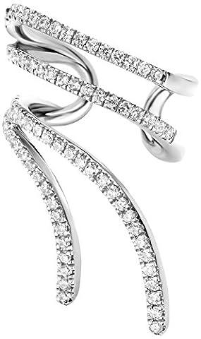 Joelle Jewellery Damen-Ohrringe Vergoldet Diamant Weiß Rundschliff