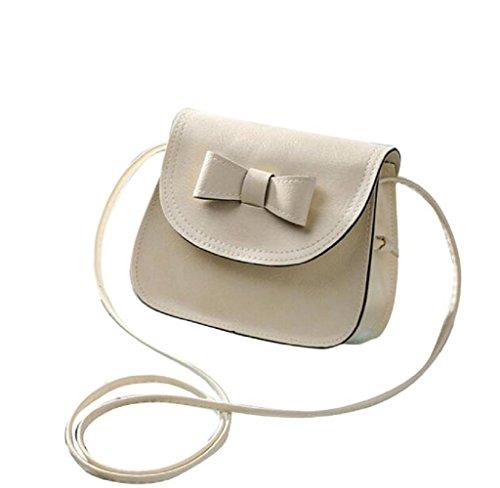 e7f5a4ea0d4f6 Covermason Damen Bowknot Handtaschen Schultertaschen Einzel-Umhängetasche  Telefon Tasche Münzen Beutel Beige