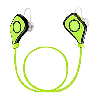 ANBES Sports Bluetooth Earphones Bluetooth 4.1 Wireless Stereo Sport Headphones Running Gym Exercise Sweatproof Stable Earphones Built-in Mic for iPhone