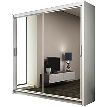 Schlafzimmerschrank schiebetür spiegel  Kleiderschrank mit Spiegel Paris, Modernes Schwebetürenschrank ...