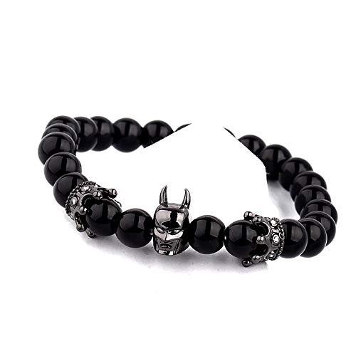 NAIQUBE Damen Kinder Herren - Alliage de zinc Kupfer Schwarz zirkonia (Paare Batman Für Ringe)