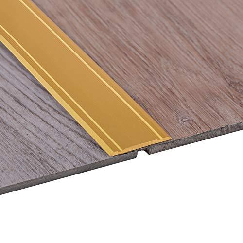Gedotec Alu Übergangsprofil SUPER-FLACH Übergangsschiene selbstklebend | 1000 x 30 mm | Bodenprofil Aluminium Messing eloxiert | ungelochte Aluminium Abdeckleiste | 1 Stück - Türschwelle zum Kleben