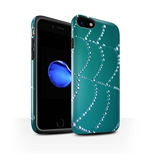 STUFF4 Glanz Harten Stoßfest Hülle / Case für Apple iPhone 8 / Rosa Muster / Spinnen Netz Perlen Kollektion Türki