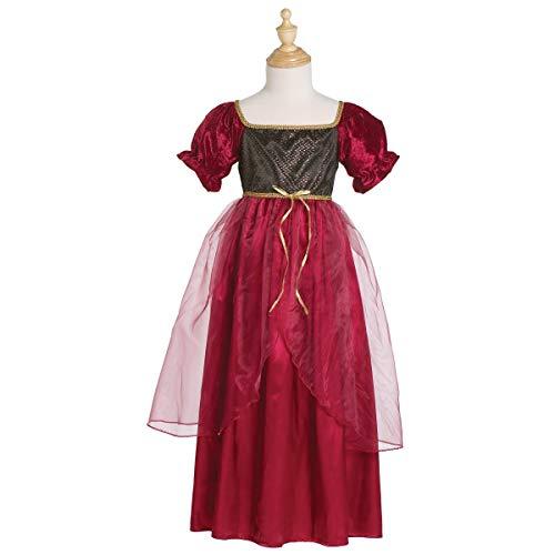 Grandes imitaciones -  disfraz de Julieta (Borgoña, Medium) (de 4/6 años)