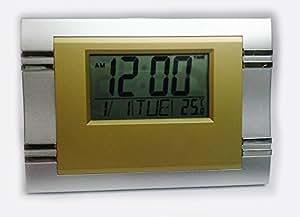 Jumbo LCD Rectangle Digital Calender Clock (Color May Vary)