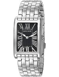 Pierre Cardin L' Independance Dame - Reloj analógico de cuarzo para mujer, correa de acero inoxidable, color plata/negro/plata