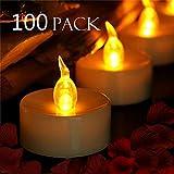 YIWER Chauffe-Plats, Bougies LED, Flamme vacillante sans Flamme Bougies, réaliste à...