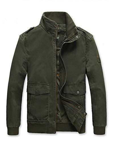 Generisches - Blouson - Blouson - Homme Armee-Grün