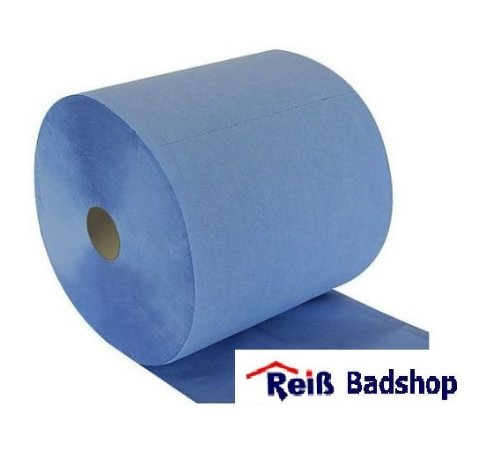 Putzrolle blau - 3-lagig - 37 x 38 cm - 1.000 Abrisse