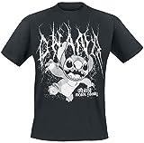 Lilo and Stitch Metal Ohana T-Shirt schwarz XL