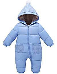 f5ad2f0ec Baby Romper Snowsuit Winter Hoodie Jumpsuit Thicken Onesies All-in-One  Zipper Outwear -