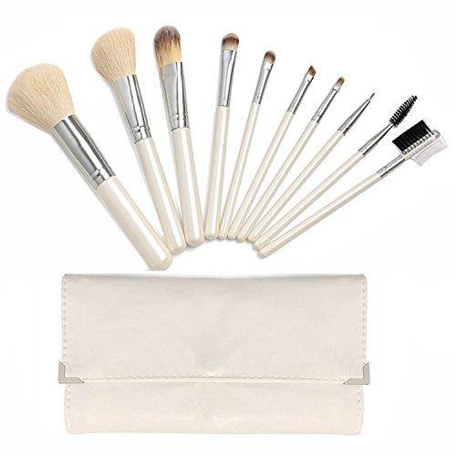 Vococal® 10Pcs Pinceau de Maquillage Set Cosmétique Tool avec Sac