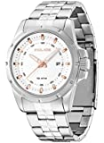 Police Men's Quartz Watch with Black Dial Analogue Display and Silver Stainless Steel / 01MA PL,13828JS