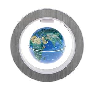 Baoblaze Mapa de Mundo de Levitación Magnética Electrónica con Luz Blanca Adornos de Casa de Oficina – Enchufe UE