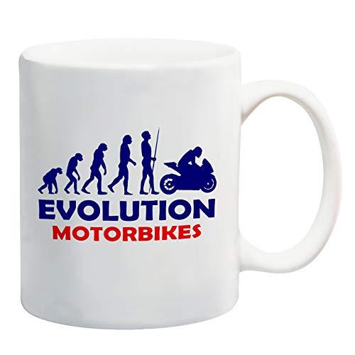 Taza de la evolución de motos de regalo