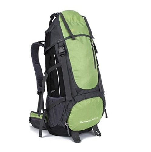 Sport All'aperto Camping Escursionismo Zaino Impermeabile Sacchetto Zaino Per Trekking In Viaggio,Orange LightGreen