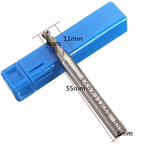Durable HSS Zylinderschaft End Fräsen Metall Cutter Bohrer Bits 4/6/8/10/12mm