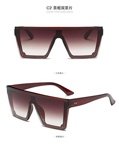 GYBTYJDD UV-Schutz Sonnenbrille, kombinierte Mode Damen Brille, großen Rahmen Trend Outdoor-Strandspiegel, Männer und Frauen, A3