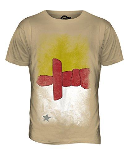 CandyMix Nunavut Verblichen Flagge Herren T Shirt Sand