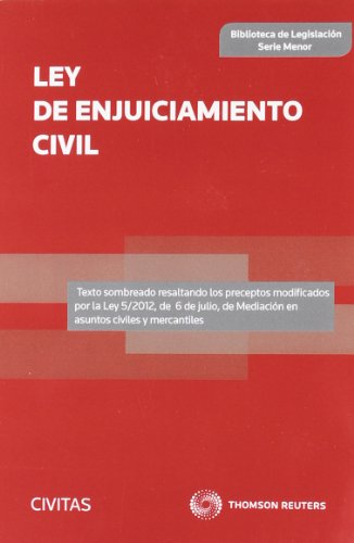 Ley de Enjuiciamiento Civil (Biblioteca de Legislación - Serie Menor) por Departamento de Redacción Civitas