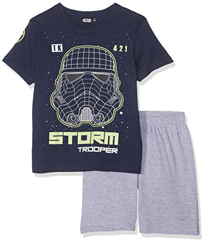 Star Wars Jungen 5777 Zweiteiliger Schlafanzug, Marine blau, 116 - Marine-blau-jungen-schlafanzug