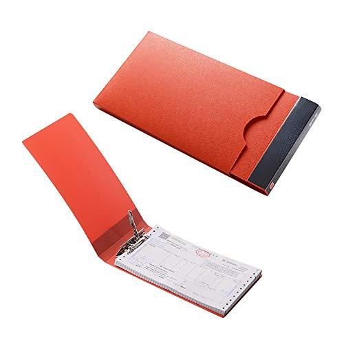 Lvcky 1 Datei Ordner Beleg Rechnungen Organizer Tasche für Kanzleipapier Dokument Ordner Business Büro Orange(Orange ) (Receipts Datei-ordner)