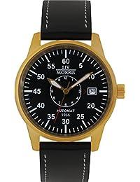 LIV MORRIS LIV MORRIS HANSE 1966 DORTMUND 4260195920392 - Reloj para hombres, correa de cuero color negro