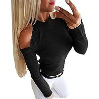 Yvelands Liquidación Mujeres Tallas Grandes Manga Larga O-Cuello Remiendo Encaje Tops Camisa Blusa Pullover