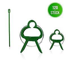 GardenGloss® 120 Pflanzenclips Pflanzenklammern für