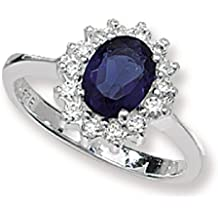 Kate Middleton anello di fidanzamento in argento Sterling zaffiro CZ anello