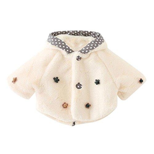 Bekleidung Longra Baby Kleinkind Mädchen winterjacke Kinderjacken Fell Warm Winter Coat Mantel Jacke Dicke warme Kleidung(0-24Monate) (80CM 12Monate, White01) (Prinz Outfits Für Kleinkinder)