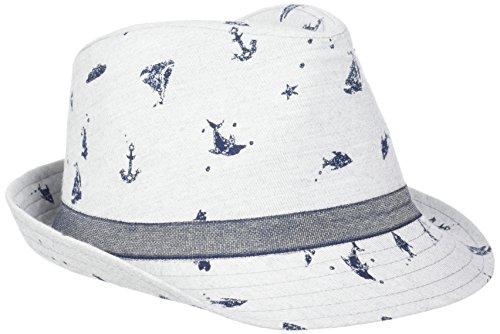 maximo Jungen Kappe Trilby, Hut Delfin, Grau (Hellgraumeliert/Navy 8848), 55 (Mütze, Trilby Hut,)