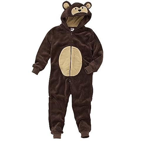 Animal Crazy Boys Supersoft Fleece Monkey Onesie Jumpsuit Combinaison -