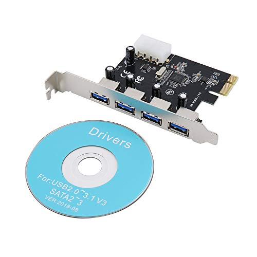 gfjfghfjfh Desktop-Motherboard USB3.0 Erweiterungskarte 20pin Frontschnittstelle PCI-E Multi-I/O-Controller-Karte auf 2 Ports Erweiterungskarte