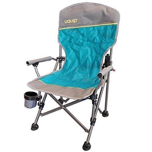 Chaise de camping pour enfant | einklemm Protection + porte-gobelet | Extra Large pieds pour sol doux | facile à 2kg Poids à 60kg | Revêtement par poudre | uquip Kirby 244006