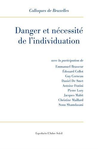 Danger et nécessité de l'individuation : 9e Colloque de Bruxelles par Emmanuel Brasseur