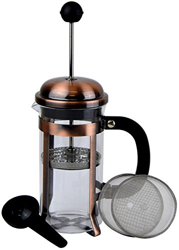 Prensa-de-caf-Espresso-y-T-con-Triple-filtro-y-cuchara-de-medicin-10-l-34-oz-Cobre
